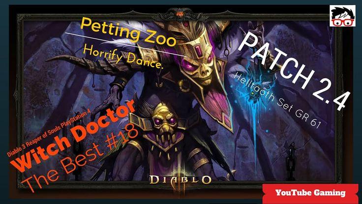 Diablo 3 patch 2.4 on PS4 Witch Doctor Helltooth Full Set Pet Festival G... #Diablo3