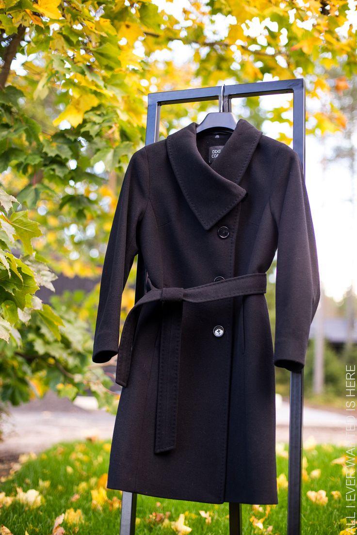 Flare Trading Dixi Coat musta villakangastakki