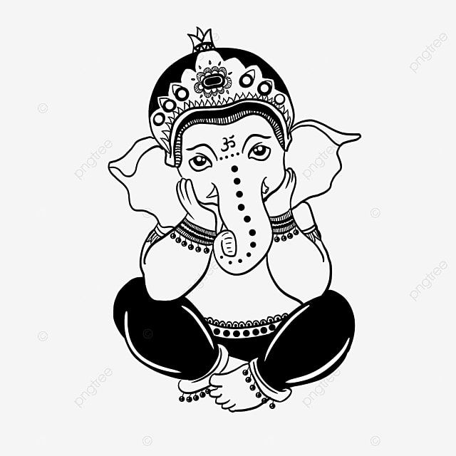Cartoon Hand Drawn Indian God Ganesh Chaturthi Elephant Element Elephant Clipart Cartoon Hand Painted Png Transparent Clipart Image And Psd File For Free Dow In 2021 God Illustrations How To Draw