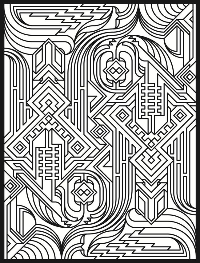 welcome to dover publications sample deco tech stained glass coloring page