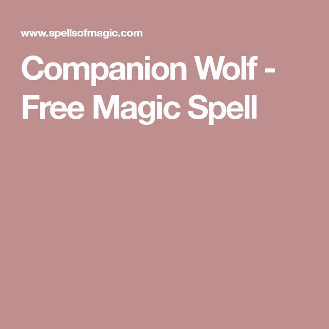 Companion Wolf - Free Magic Spell