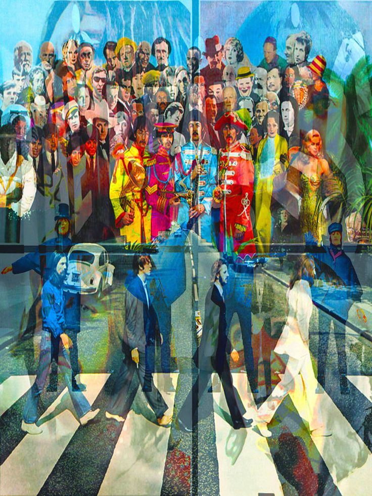 Multi Image Of The Beatles