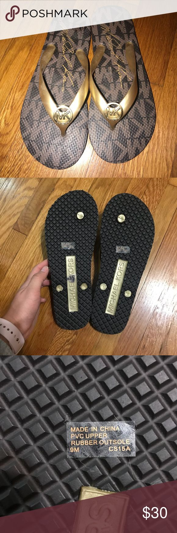 Brand New Michael Kors flip flops Brand new Michael Kors flip flop sandals. Size 9 Michael Kors Shoes Sandals