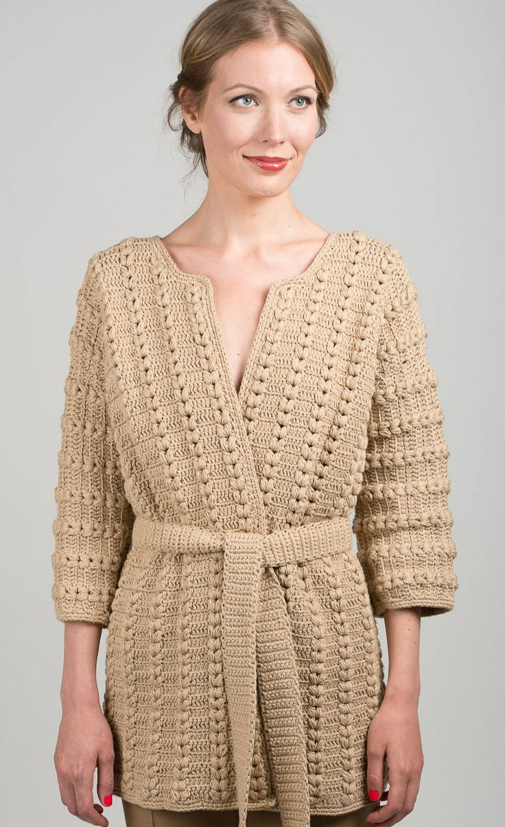 Chunky hand knit cardigan JULIA made from 100% Italian Cotton. Nataliya Nada NYC. Luxury Knitwear