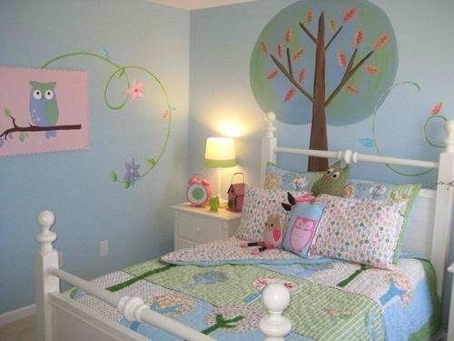 cute owl bedroomKids Bedrooms, Owls Bedrooms, Little Girls Room, Room Colors, Girls Bedrooms, Anita Rolls, Wall Murals, Kids Room, Big Girls Room