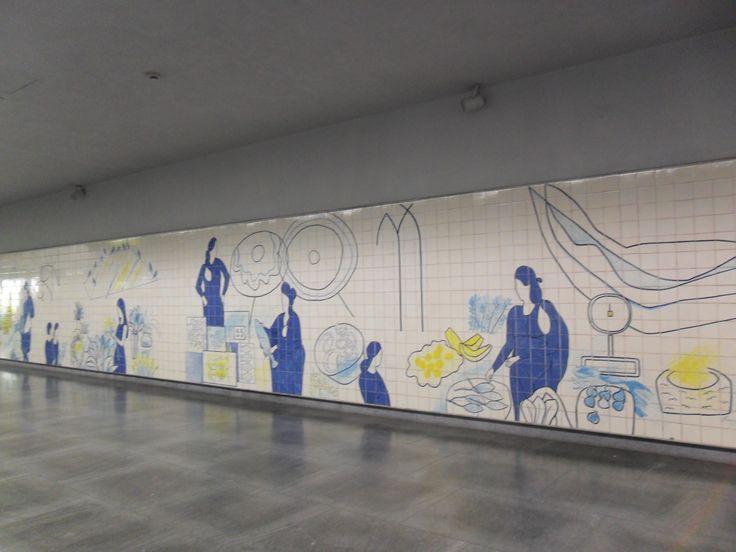 Júlio Resende | Estação / Station Bolhão | Metropolitano do Porto / Oporto Underground | 2007 #Azulejo #JúlioResende #MetroDoPorto