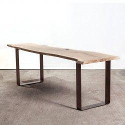 le pied fer plat 45 cm parfait pour un banc un meuble tv une - Pied Pour Table Basse