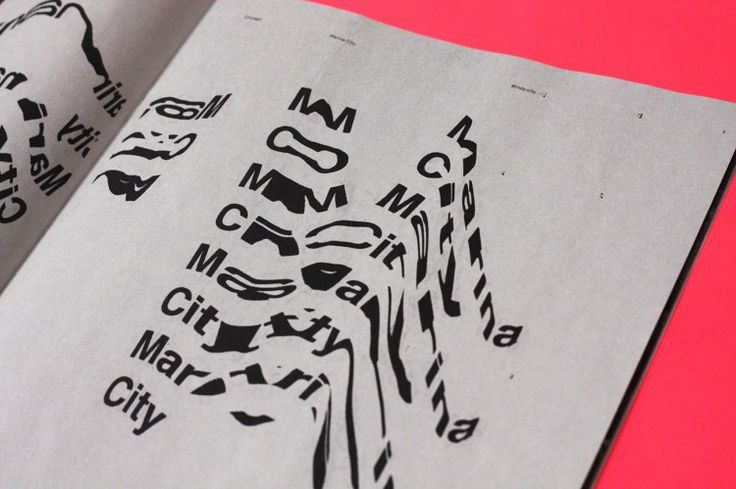 Graphic design inspiration – Chicago zine with experimental typography