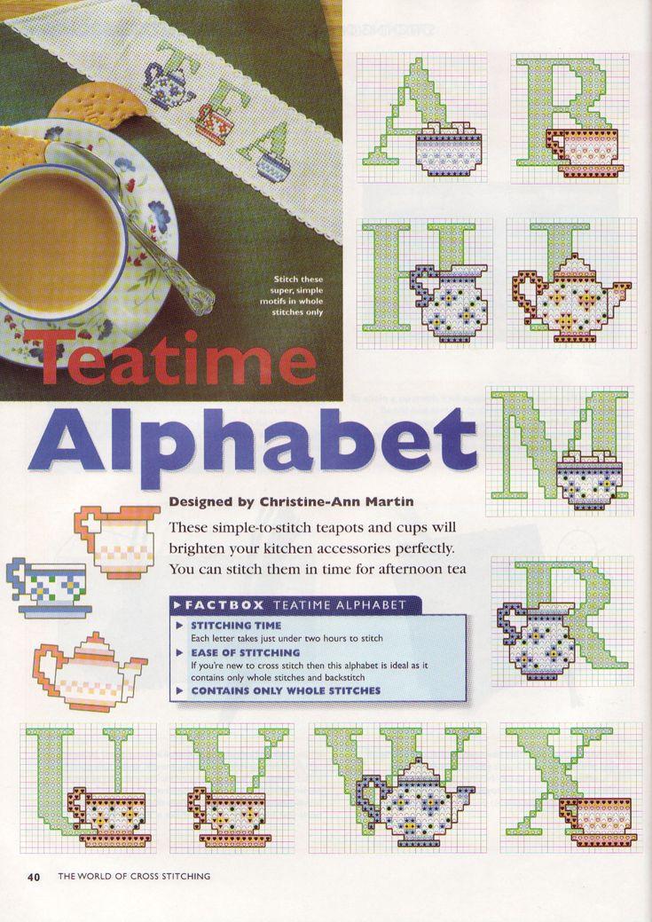 Alfabeto con tazze da thè e teiere (1)
