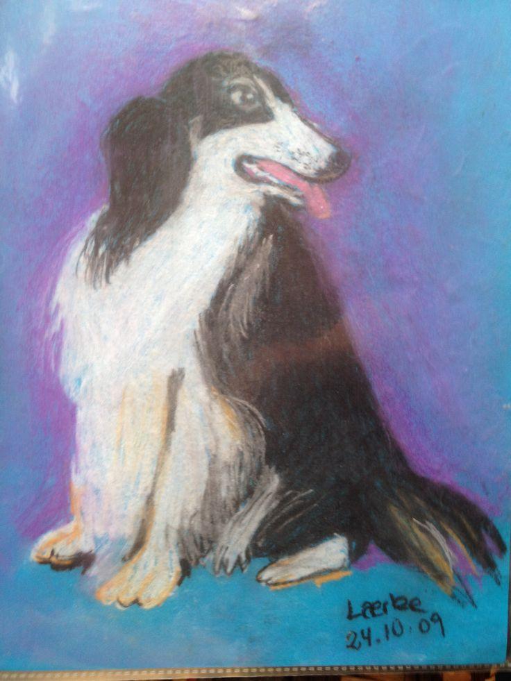 Dog. Pastel