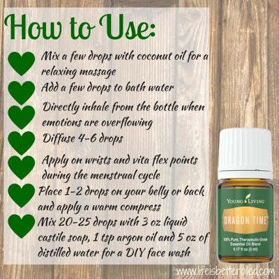 How to use Dragon Time Essential Oil. Perfect for the women in your life.