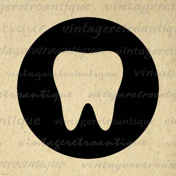 Printable Tooth Digital Image Tooth Icon Graphic Dentist Toothcare Dental Download Antique Clip Art Jpg Png Eps 18x18 HQ 300dpi No.4380 @ vintageretroantique.etsy.com