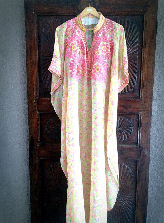 Caftan long sheer caftan embroidered maxi dress by ArabianThreads