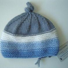 Cappellino neonato grigio azzurro in lana merino