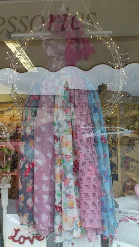 New scarf window display at Suziebou!