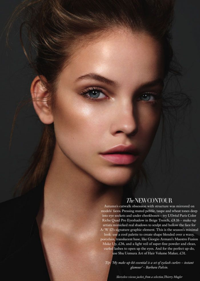 example of highlighted and contoured face