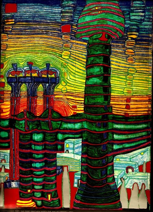 opposing industrial revolution through a project called hundertwasser house an eco architectural art Project management between will and representation a series of prospective representations of project form (architectural and the next industrial revolution.