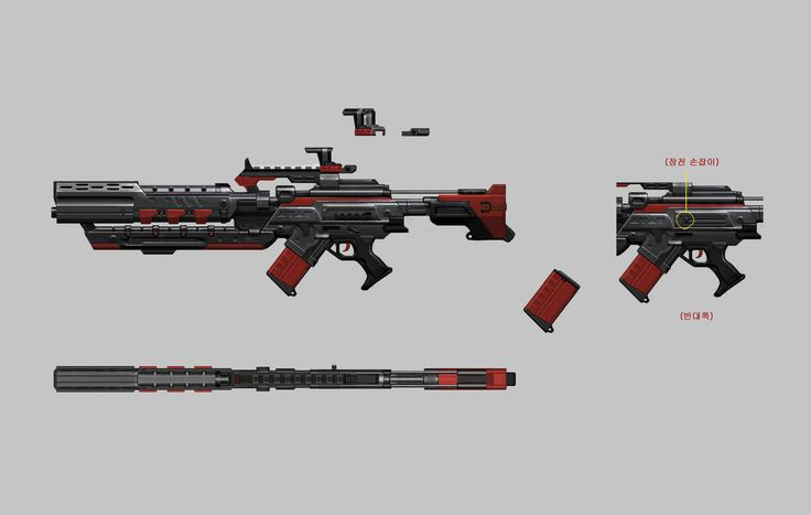 ArtStation - SPECIALFORCES FPS game Weapons Design., Heo Ilhaeng