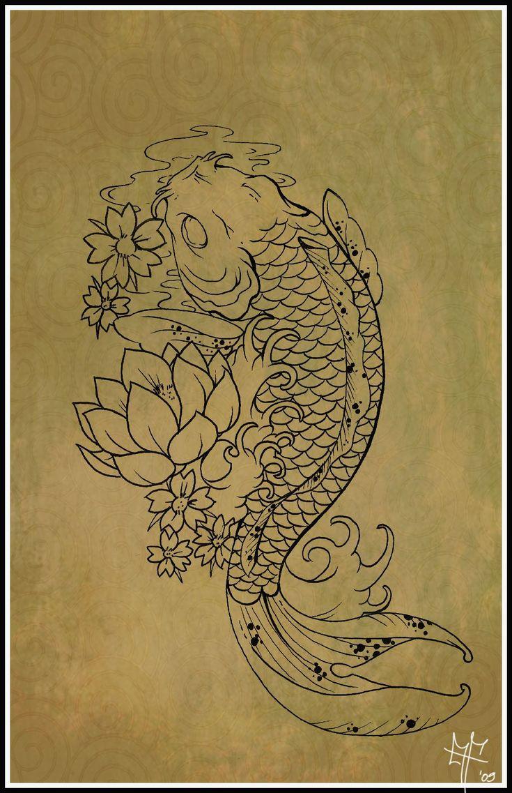koi tattoos   100 desenhos de Carpas » Koi_Carp_Tattoo_by_Dragodelbuio