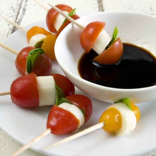 Heirloom Tomato Caprese Bites | Food & Drink | Pinterest