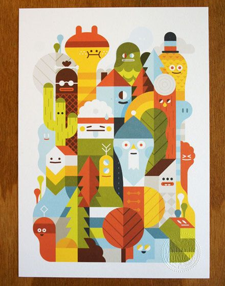 Character City print on the Behance Network