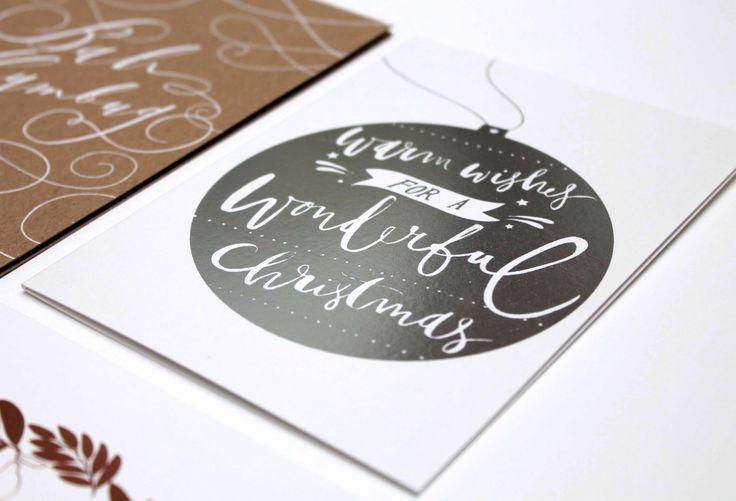 Matt Silver Foil Debossed For This Luxury Christmas Card