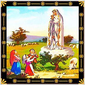N. S. de Fátima - Quadrinhos confeccionados em Azulejo no tamanho 15x15 cm.Tem um ganchinho no verso para fixar na parede. Inspirados em santos católicos. Para entrar em contato conosco, acesse: www.babadocerto.com.br
