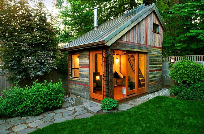 Sliding Barn Door - rustic - Garage and Shed - Tiny house