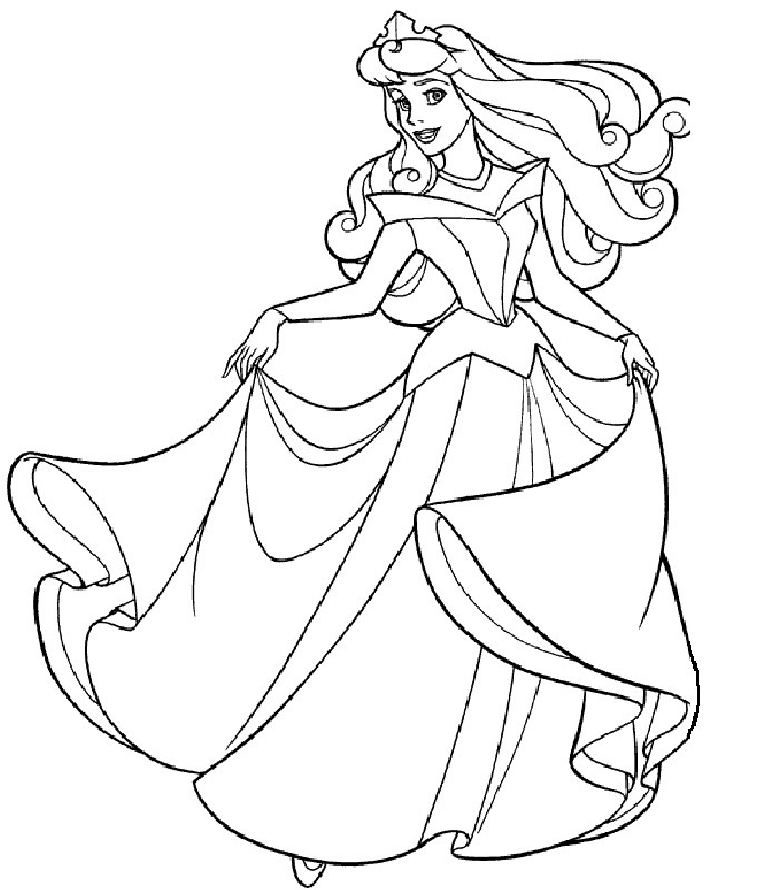 Disney Princess Coloring Pages Free Kids