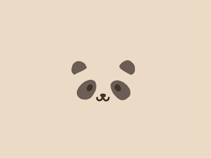 Minimalistyczne Tapeta Na Pulpit 841 Wrzutka Panda Wallpapers Panda Bears Wallpaper Bear Wallpaper