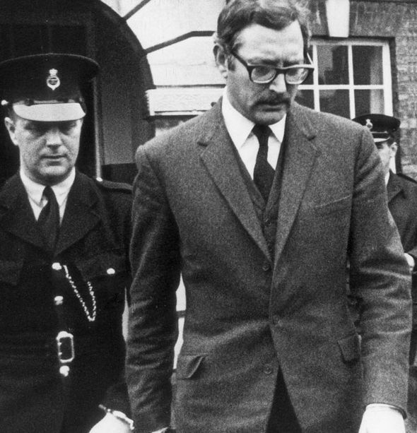 Bruce Reynolds handcuffed after taking part in the Great Train Robbery