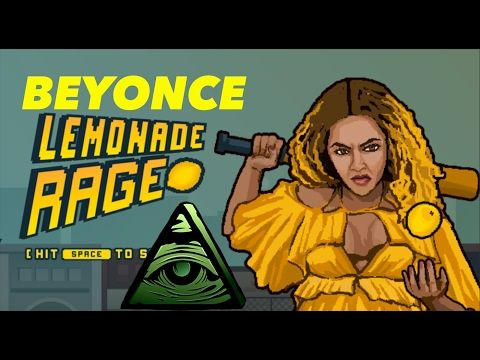 BEYONCE LEMONADE RAGE VIDEO GAME PROMOTES ATTACKING ILLUMINATI CONSPIRACY THEORISTS! - YouTube
