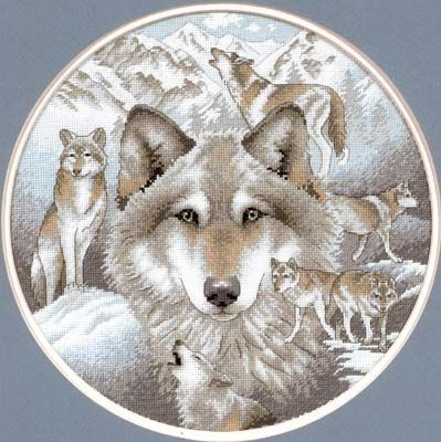 Call of the Wolf (counted cross stitch kit)