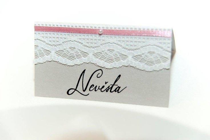 #wedding #namecard #lace