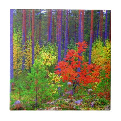 Fall colors ceramic tile