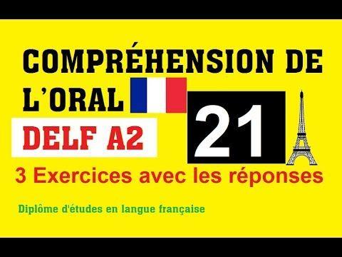 Compréhension De L Oral A2 Delf A2 Comprehension De L Oral No 21 Youtube