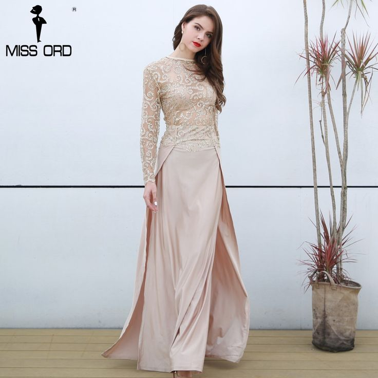 High-necked Long-Sleeved Split Dress //Price: $44.95 & FREE Shipping //     #love