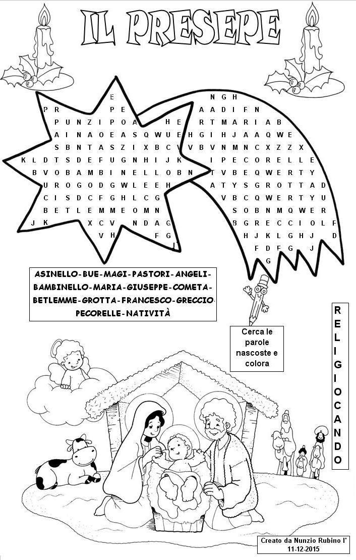 Disegni Da Colorare Grotta Di Natale.Il Presepe Lavoretti Di Natale Scuola Materna Renne Di