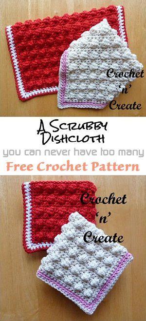 Scrubby Dishcloth | Free crochet pattern | #crochet