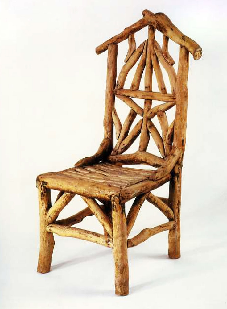 ☞ Rustic wood chair. c1890 South Australia