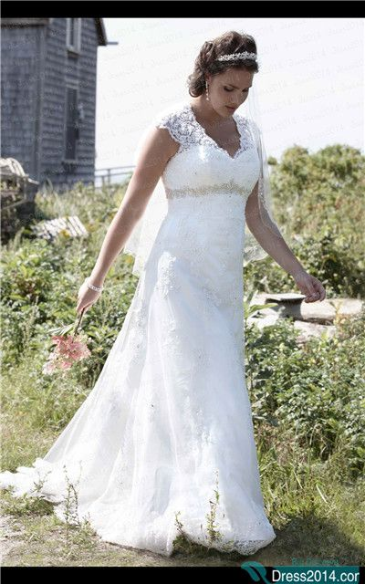 plus size wedding dress plus size wedding dresses. good for plus size.