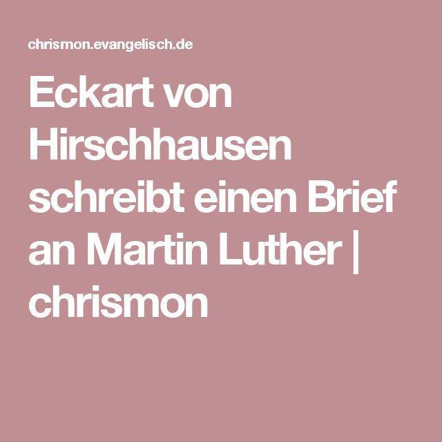 Eckart von Hirschhausen schreibt einen Brief an Martin Luther | chrismon