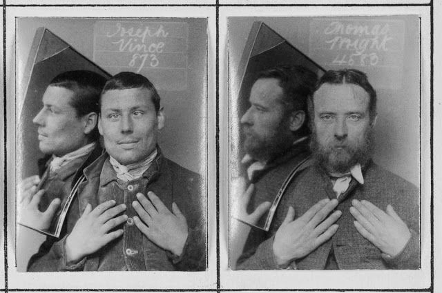 vintage everyday: These Mugshots of Prisoners in London are Unusual Compared with the Standard of Prison Photography from the 1890s