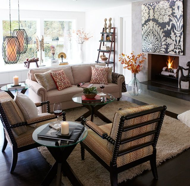 Living room inspired by Pier One.