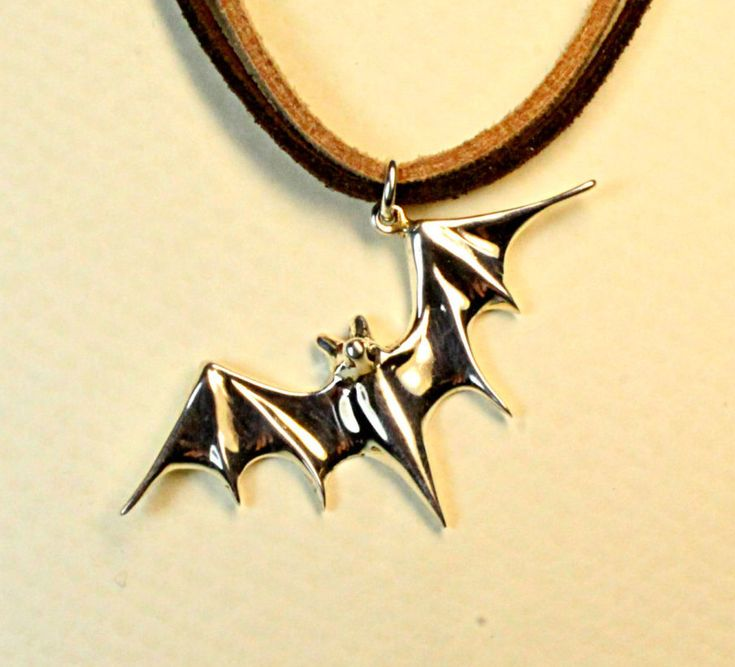 Bat jewelry, batman jewelry, bat pendant, handmade jewelry, solid sterling silver by jewelsculpts on Etsy
