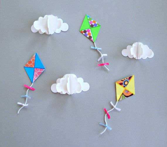 Paper Kites For Decoration Abc Pinterest Color