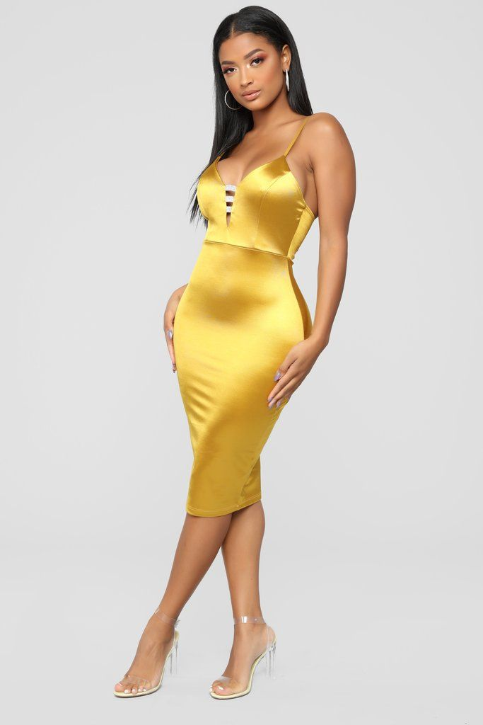 bbf2a9b65718 Simply Elegant Dress - Mustard in 2019 | Fashion Nova | Dresses ...