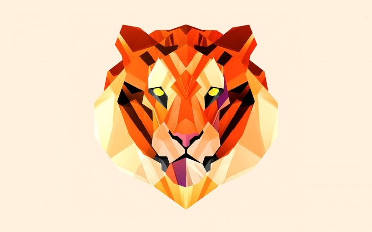 Polygon Vector Tiger Wallpaper