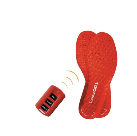 These ThermaCELL heated insoles are remote-controlled, rechargeable and can be programmed to keep your feet at a normal body temperature.