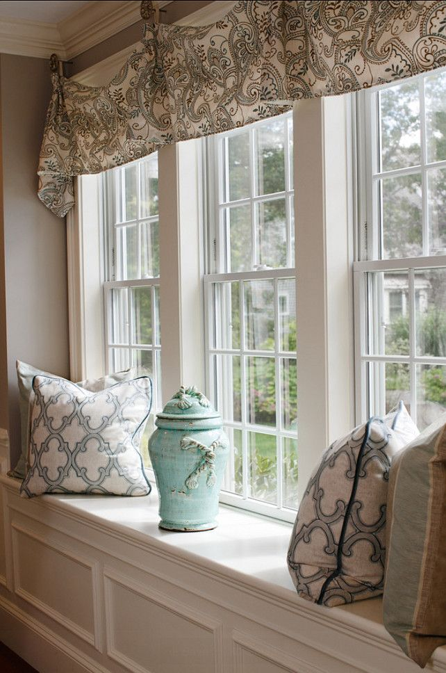 124 best window seat built ins images on pinterest my - Living room window treatments for large windows ...
